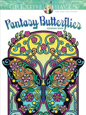 Fantasy Butterflies Adult Coloring Book  -     By: Marty Noble