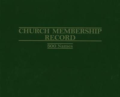 Church Membership Record Binder   -