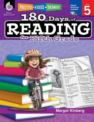 Practice, Assess, Diagnose: 180 Days of Reading for Fifth Grade   -     By: Margot Kinberg