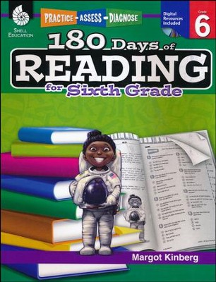 Practice, Assess, Diagnose: 180 Days of Reading for Sixth Grade   -     By: Margot Kinberg