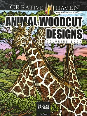 Animal Woodcut Designs Coloring Book  -     By: Tim Foley