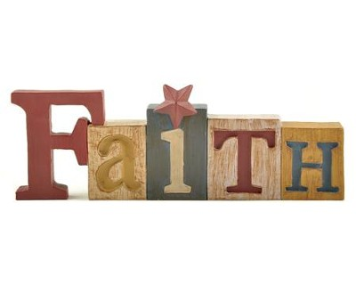 Faith Blocks Figure with Star  -     By: Barbara Lloyd