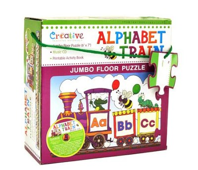 Alphabet Train Jumbo Floor Puzzle with Audio Music CD  -