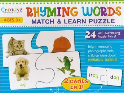 Rhyming Words Match and Learn Puzzle   -