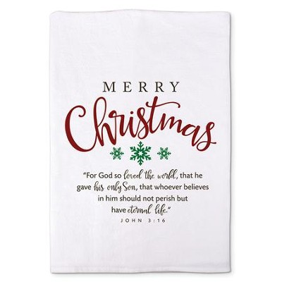 Merry Christmas Kitchen Towel  -