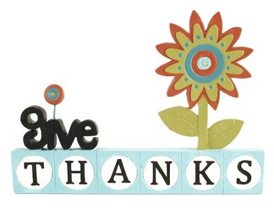 Give Thanks Block Figurine  -     By: Suzi Skoglund