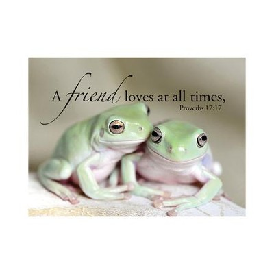 A Friend Loves At All Times, Frogs Magnet, Small  -     By: Tiffany Kimmet