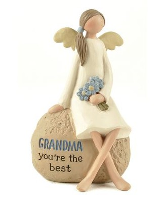 Grandma, You're The Best Angel Figurine                      -     By: Barbara Lloyd