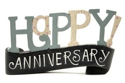 happy anniversary banner figurine deb strain christianbook com