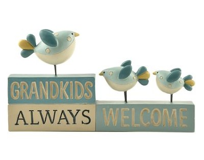 Grandkids Always Welcome Figurine with Birds  -     By: Suzi Skoglund