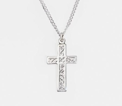 Filigree Cross Necklace  -