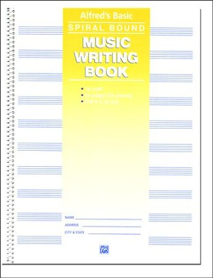 Alfred's Basic Spiral-Bound Music Writing Book, 10 Staves, 64 pages  -