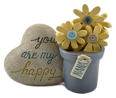 Nana, You Are My Happy Flower Pot with Heart Rock  -     By: Barbara Lloyd