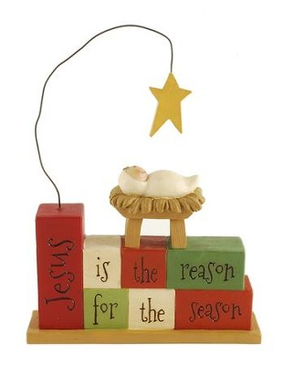 Jesus Is the Reason For the Season, Stacked Blocks Figure  -     By: Suzi Skoglund