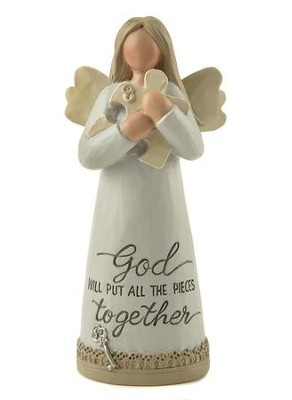 God Will Put All the Pieces Together, Angel Figurine   -     By: Barbara Lloyd