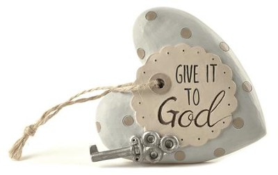 Give It To God, Heart Plaque  -     By: Barbara Lloyd
