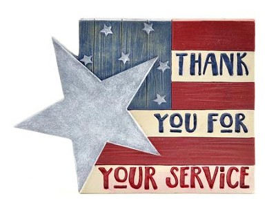 Thank You for Your Service Plaque  -     By: Barbara Lloyd
