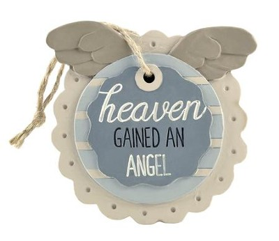 Heaven Gained An Angel Easel Plaque  -     By: Barbara Lloyd