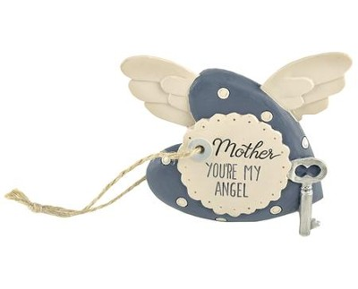 Mother You're My Angel Heart with Key and Wings  -     By: Barbara Lloyd