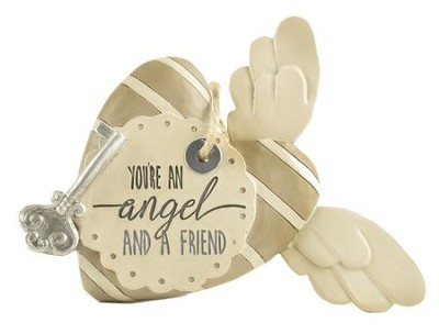You're An Angel and a Friend Heart with Key and Wings  -     By: Barbara Lloyd