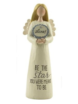 Be The Star You Were Meant to Be Angel Holding Shine Sign  -     By: Barbara Lloyd