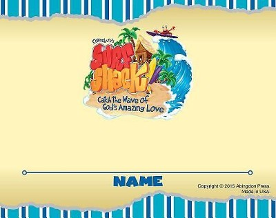 VBS 2016 Surf Shack: Catch the Wave of God's Amazing Love - Nametag Cards (Pkg of 24)  -