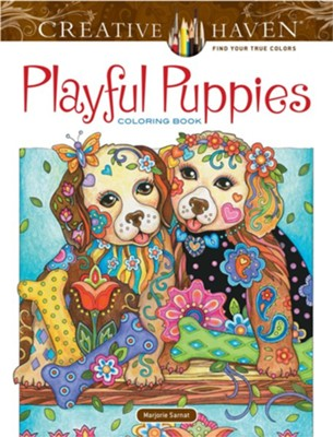 Playful Puppies Coloring Book   -     By: Marjorie Sarnat