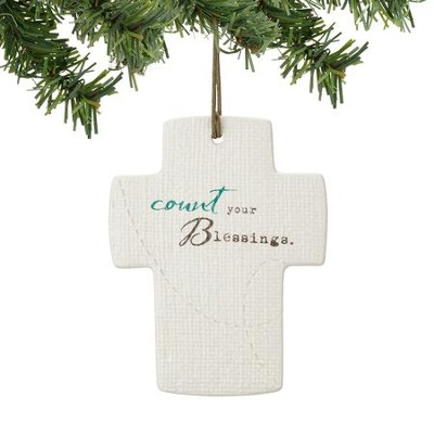 Count Your Blessings, Cross Ornament   -