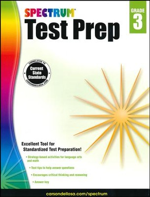 Spectrum Test Prep, Grade 3 (2015 Edition)  -