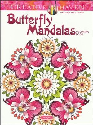 Butterfly Mandalas Coloring Book  -     By: Jo Taylor