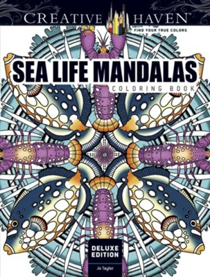 Sea Life Mandalas Coloring Book  -     By: Miryam Adatto
