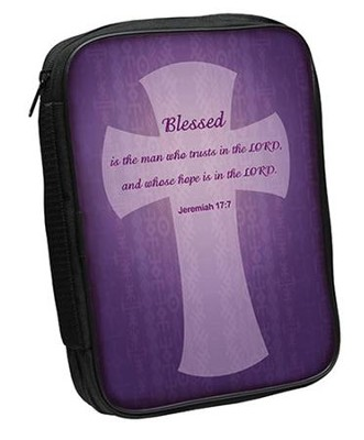 Blessed Bible Cover, Purple, Large   -