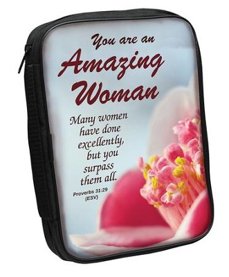 Amazing Woman Bible Cover Aqua   -