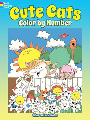 Cute Cats Color by Number  -     By: Sharon Lane Holm