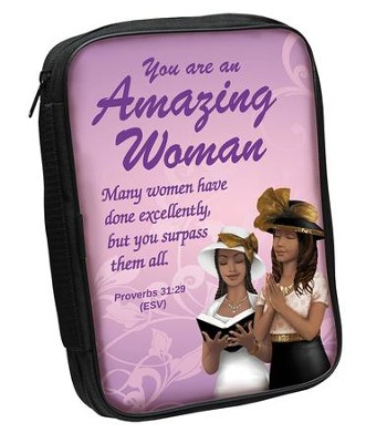 Amazing Woman Bible Cover Purple        -