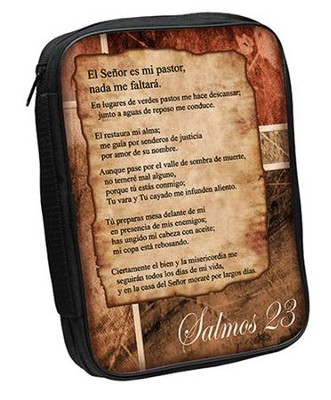 Psalm 23 Bible Cover, Brown, Spanish, Large  -