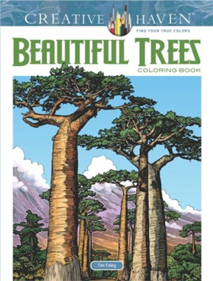 Beautiful Trees Coloring Book  -     By: Tim Foley