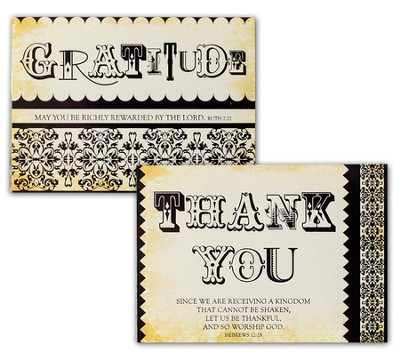 Thank You Gratitude Blank Note Cards, Box of 12     -