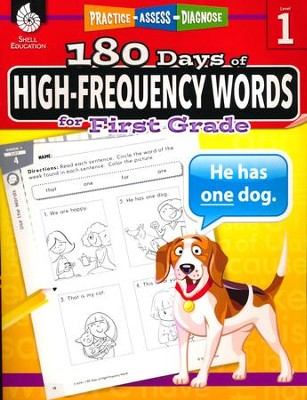 180 Days of High-Frequency Words for First Grade (Level 1)  -