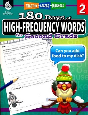 180 Days of High-Frequency Words for Second Grade (Level 2)  -