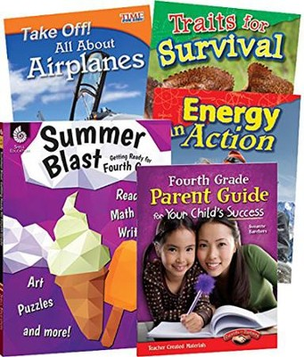 Learn-at-Home STEM Bundle with Parent Guide, Grade 4   -