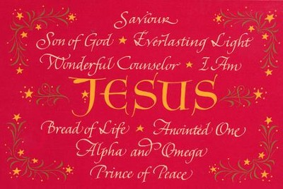 Names of Jesus Christmas Cards, Box of 18  -