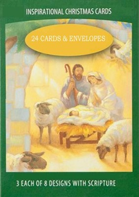 Religious Scenes Value Christmas Cards, Box of 24  -