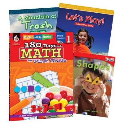 Learn-at-Home Math Bundle, Grade 1   -