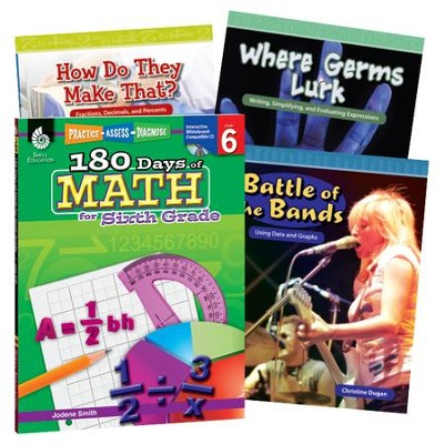 Learn-at-Home Math Bundle, Grade 6   -