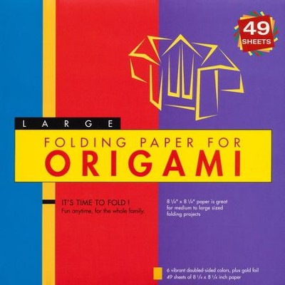 Folding Paper for Origami Large with 8 page booklet  -