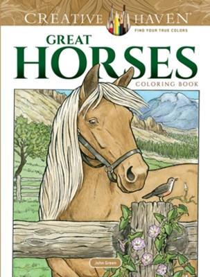 Great Horses Coloring Book  -     By: John Green