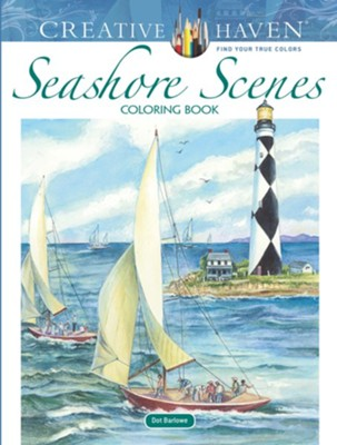 Seashore Scenes Coloring Book  -     By: Dot Barlowe