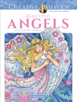 Beautiful Angels Coloring Book  -     By: Marjorie Sarnat