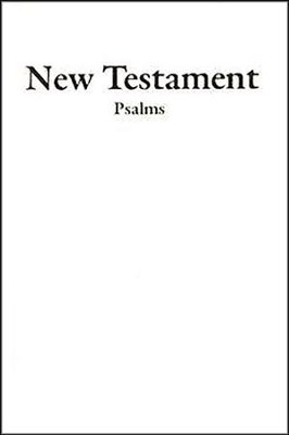 KJV Economy New Testament and Psalms, Imitation Leather, White  -